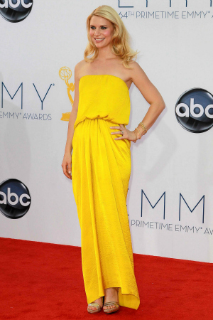Actress Claire Danes at the 64th Annual Primetime Emmy Awards