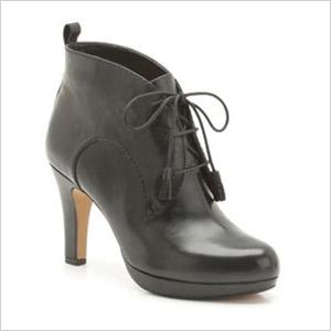 clarks black booties
