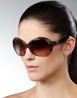 Prada oversized rounded sunglasses