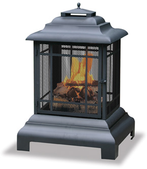 Classic outdoor fireplace