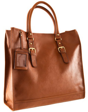 The leather handbag