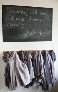 Classroom chalkboard message board