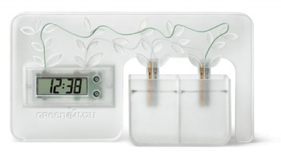 Green and clean energy water clock