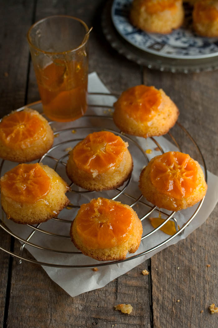 Clementine upside-down cakes
