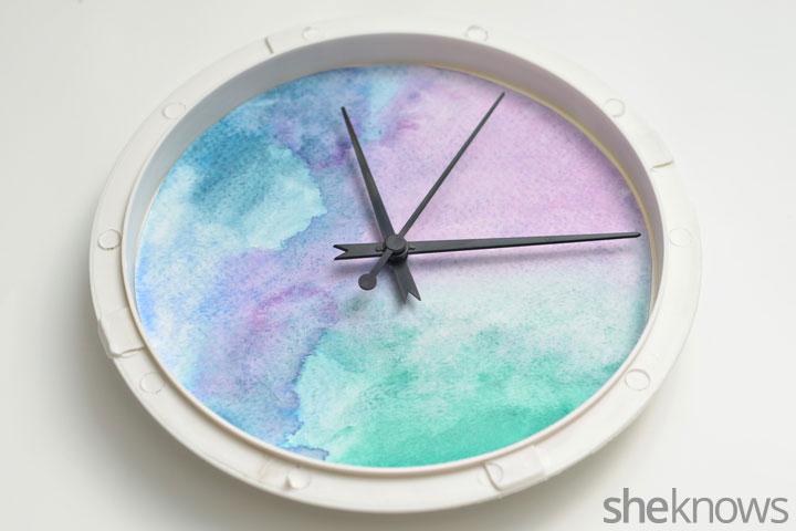 Watercolor clock step 5