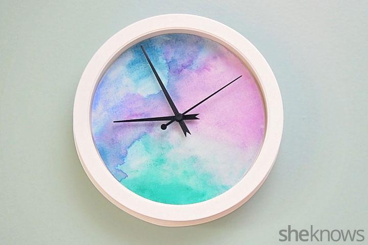 Watercolor clock step 6