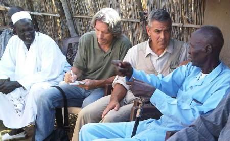 George Clooney visits Sudan