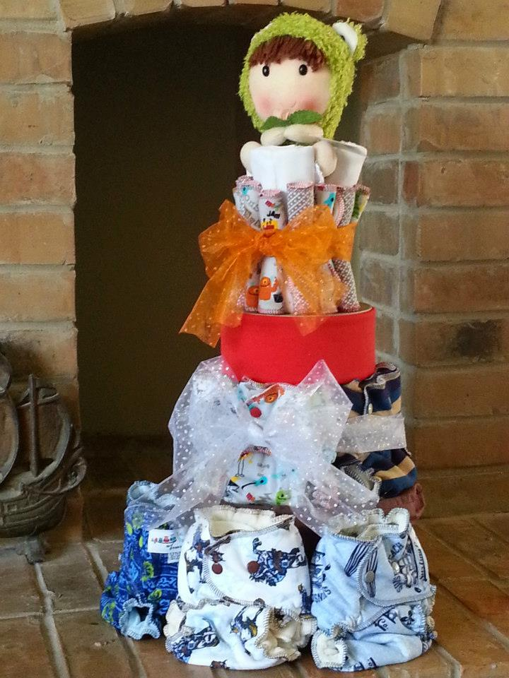 Crystal's cloth diaper cake