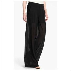 Vince silk wide leg trousers