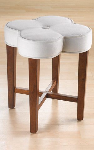 Clover vanity stool