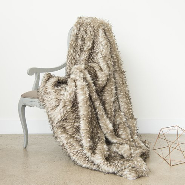 Luxe Throws For Your Bed or Sofa This Season | Wild Mannered Faux Fur Lounge Throw Blanket