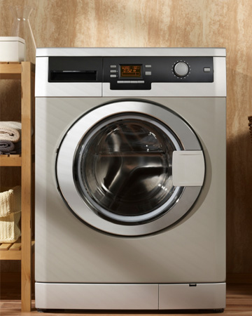 Clutter free laundry room