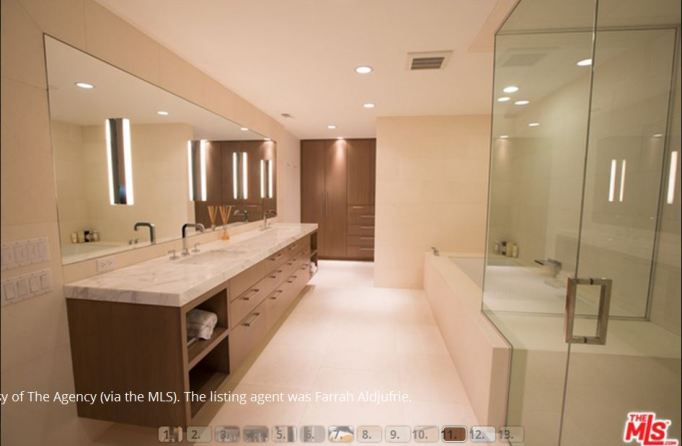 Kris Jenner condo steam shower
