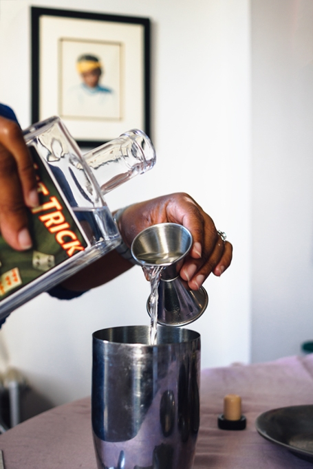Pouring Gin