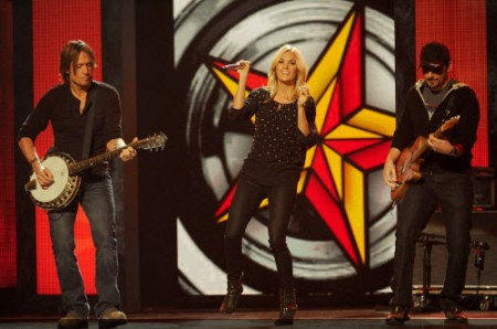 Keith Urban, Carrie Underwood and Brad Paisley