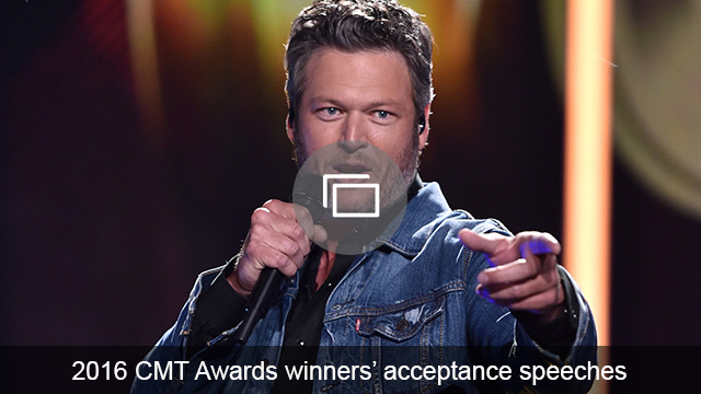 2016 CMT Awards acceptance speeches slideshow