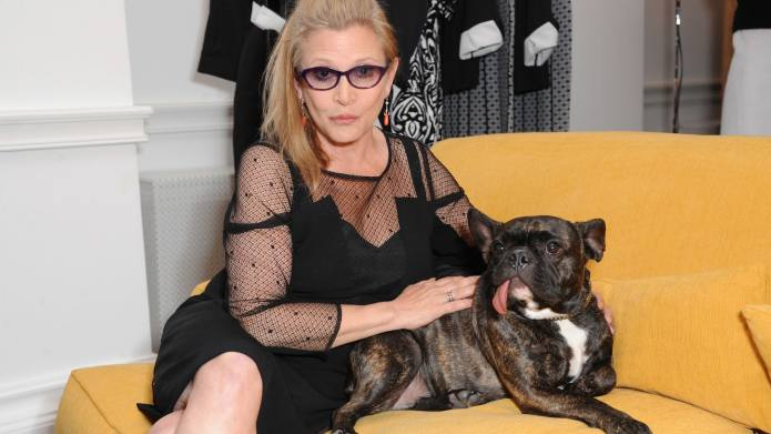 Carrie Fisher's Beloved Dog Watched Her