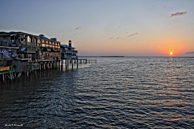 Sunset view of Cedar Key, Florida