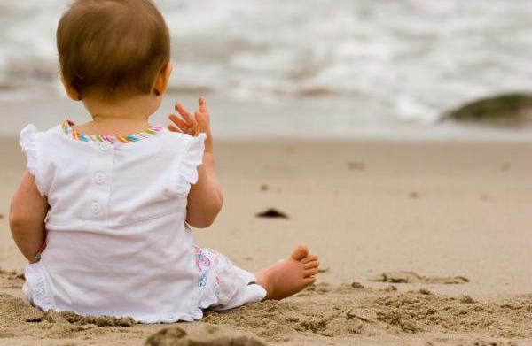 Beach survival kit for baby