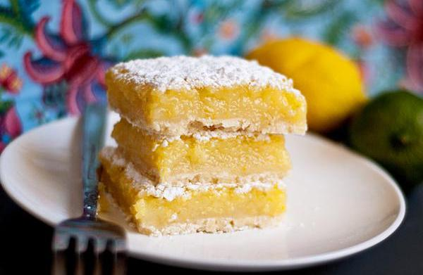 Summer citrus bars with fresh whipped