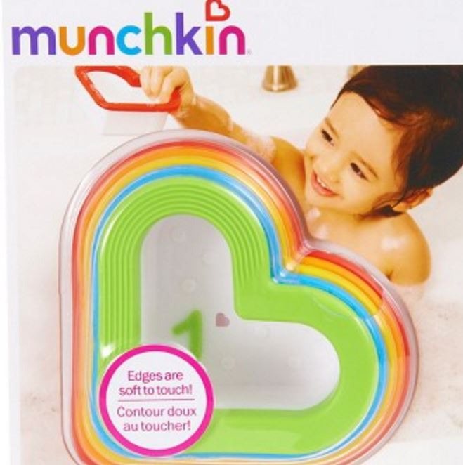 Gifts for Baby's First Valentine's Day: Heart-Shaped Bath Toys