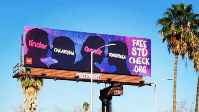 Controversial STD billboards have Tinder in