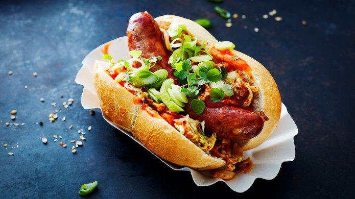 Asian-style hot dog