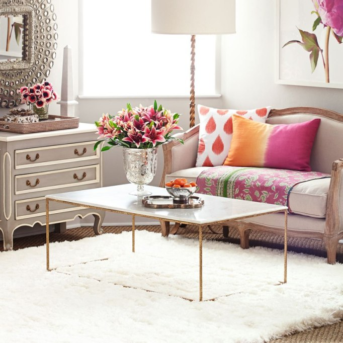 Wisteria gold leaf collection coffee table