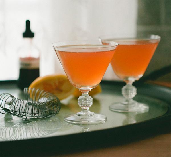 Lemon verbena whiskey sour