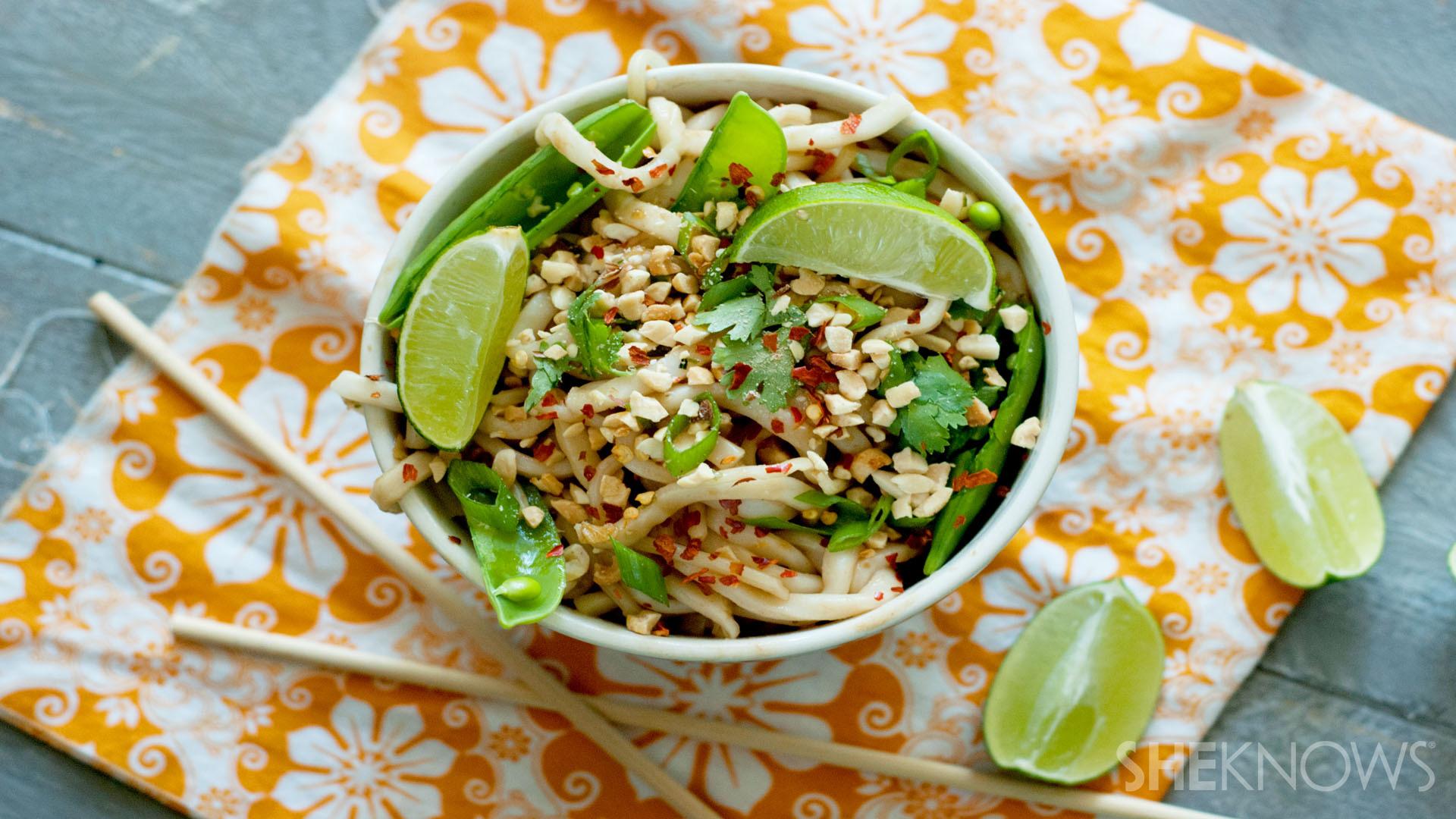 Takeout fake-out: Coconut-peanut udon noodle bowls