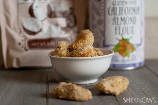 Bite size gluten-free coconut chicken
