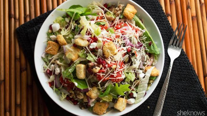 This rustic winter panzanella salad is