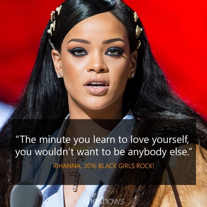 Rihanna 2016 Black Girls Rock quote