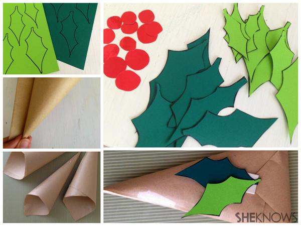 3 Fresh Christmas gift wrapping trends | Sheknows.com.au -- christmas cone steps