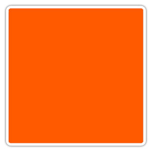 Color blocking orange