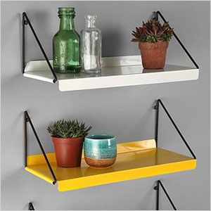 colored shelves