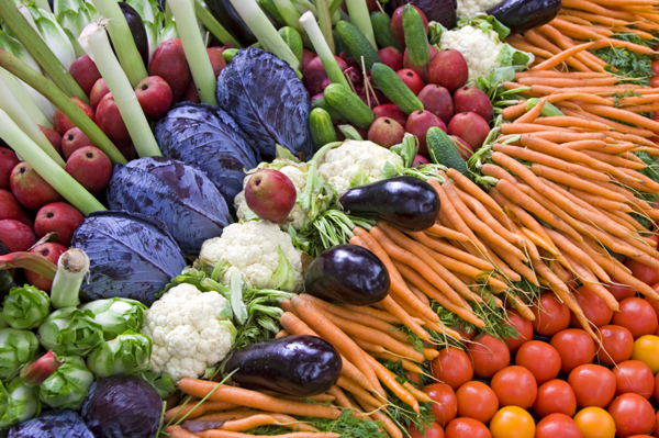 Fruits and vegetables used to make music