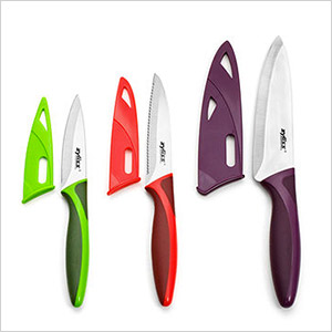 colorful knife set