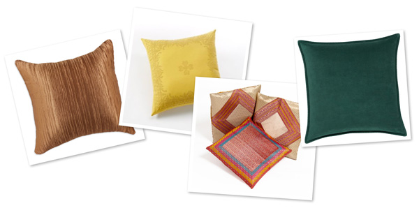 Pillows in exotic colors for fall