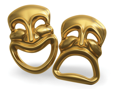Comedy and tragedy theatrical masks | Sheknows.com