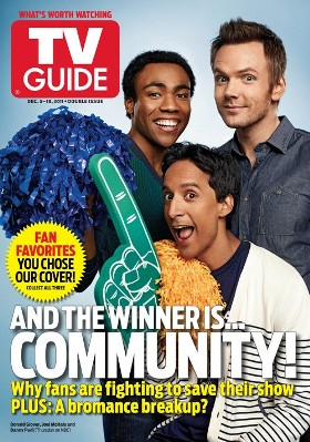 Community wins TV Guide cover, but loses a spot on the January schedule