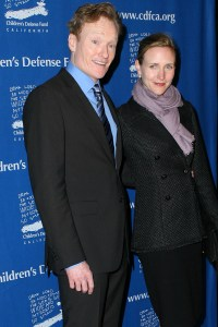 Conan O'Brien and his wife