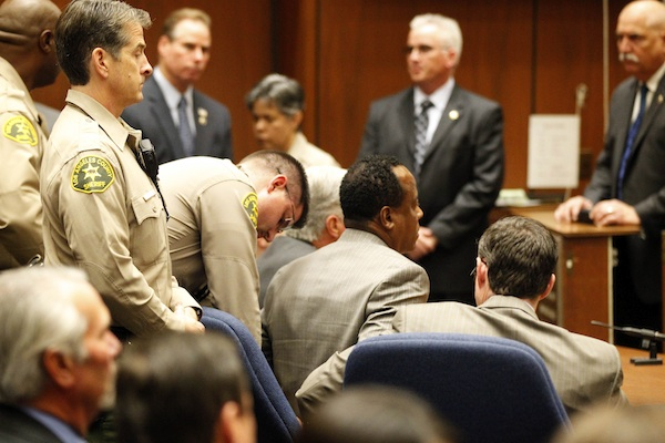 Conrad Murray on suicide watch during his first night in jail