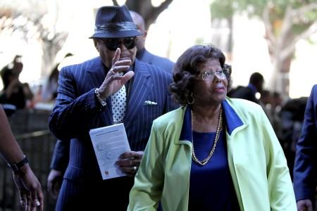 Joe and Katherine Jackson arrive for Conrad Murray's hearing