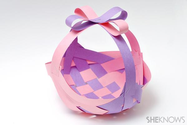 Construction paper Easter basket