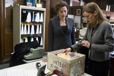 Minnie Driver and Hilary Swank in Conviction