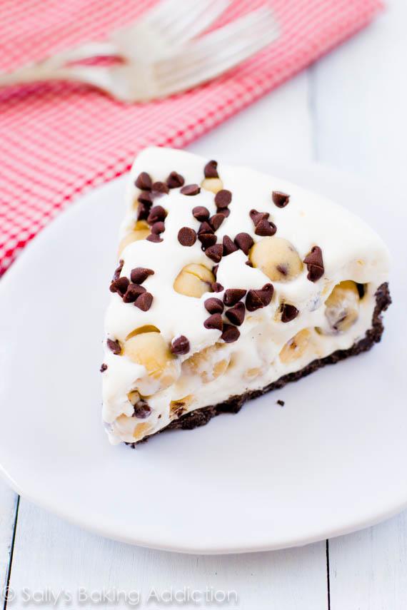 Cookie dough lovers ice cream pie