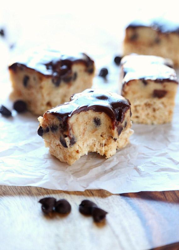 Cookie dough Krispie treats