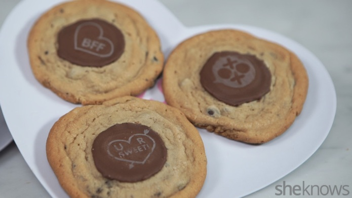 Easy chocolate peanut butter conversation cookies