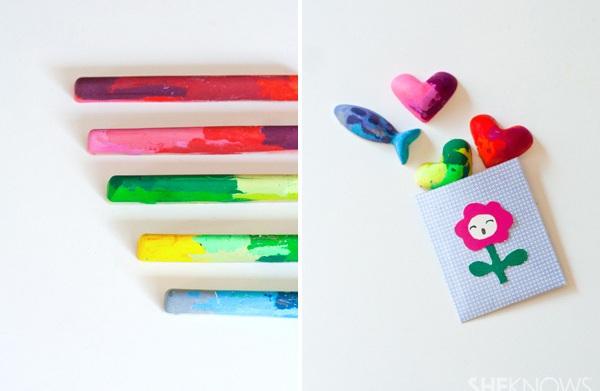 Crayon recycling DIY